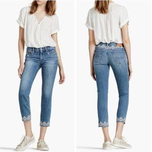 Lucky Brand Embroidered Sweet Crop Jeans Size 26